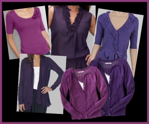 purple feminine tops